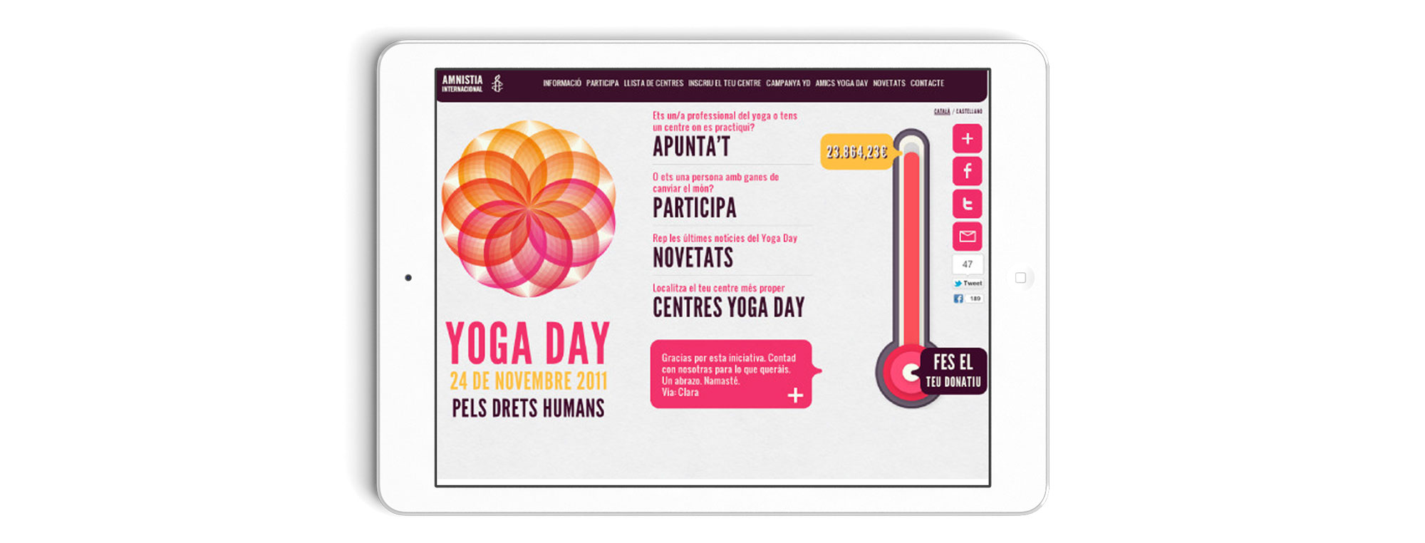 Amnistia Internacional Yoga Day 2 WEB - AMNISTIA INTERNACIONAL // YOGA DAY