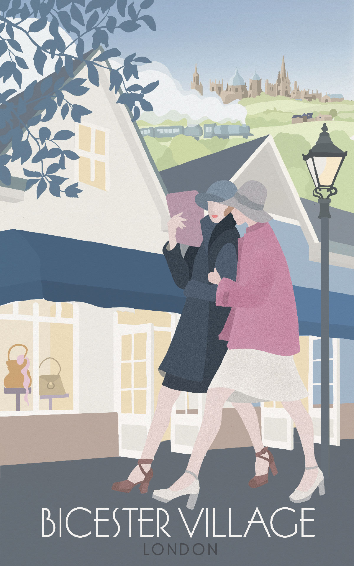 BICESTER VILLAGE TRAVEL POSTER - VALUE RETAIL - THE TRAVEL POSTERS