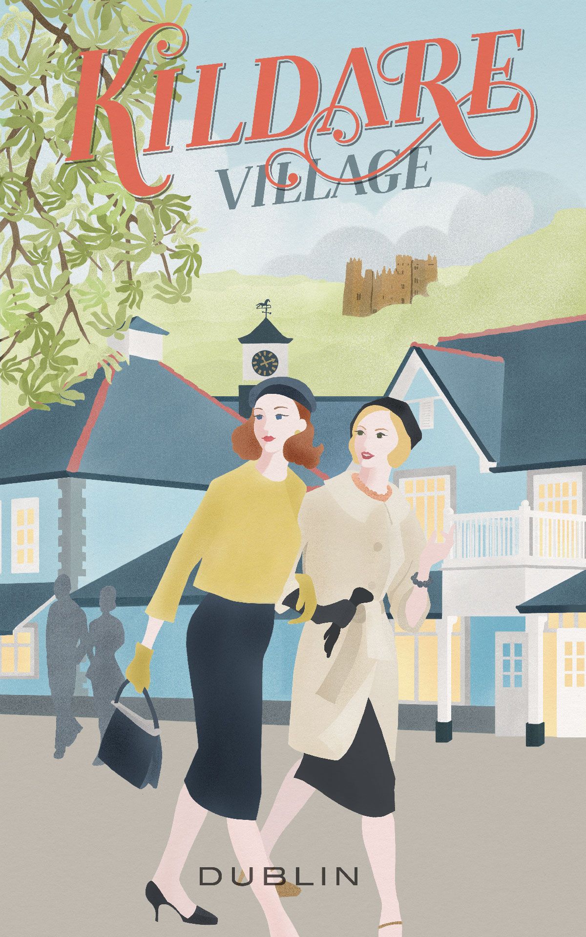 KILDARE VILLAGE TRAVEL POSTER WEB - VALUE RETAIL - THE TRAVEL POSTERS