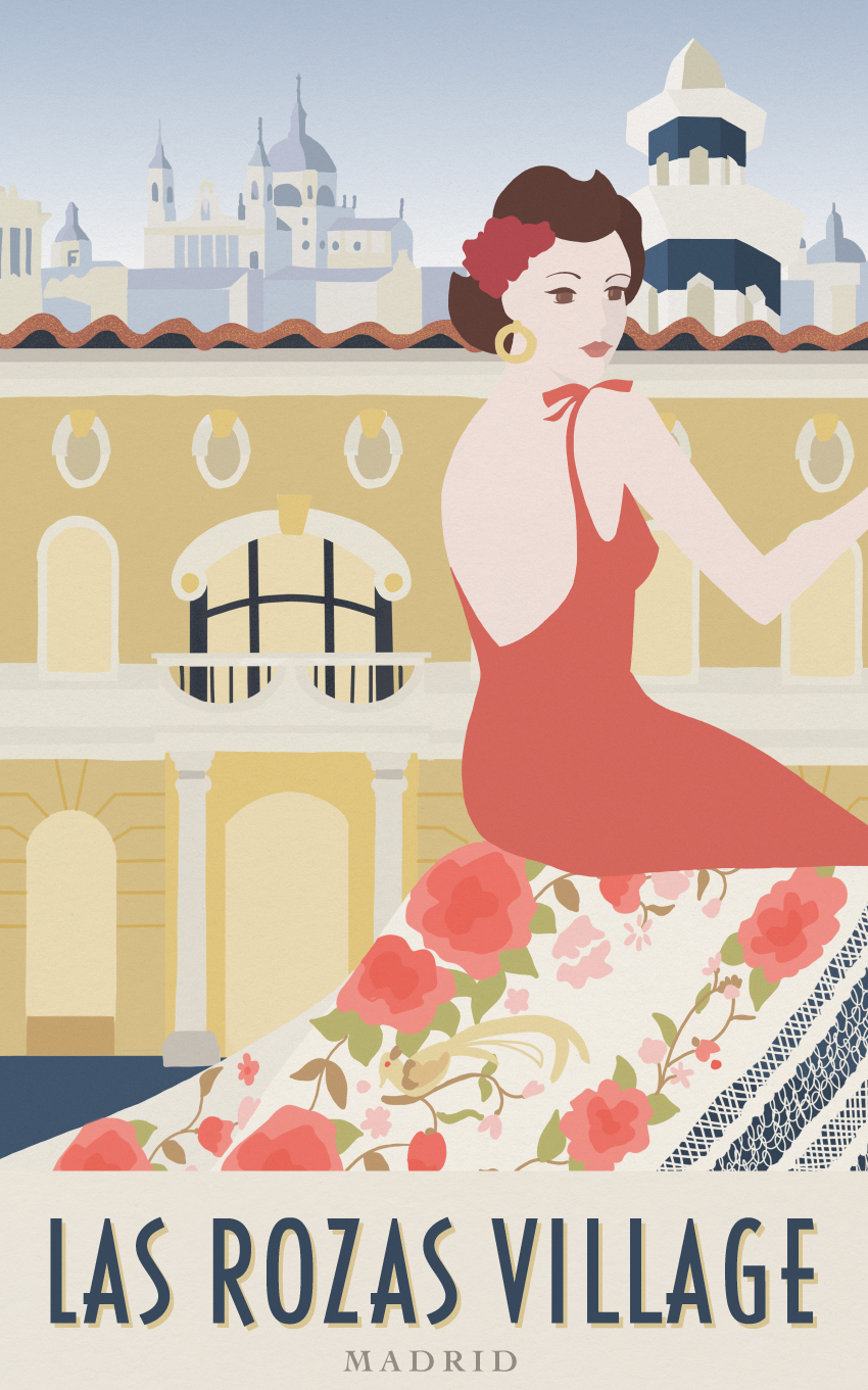 LAS ROZAS VILLAGE TRAVEL POSTER - VALUE RETAIL - THE TRAVEL POSTERS