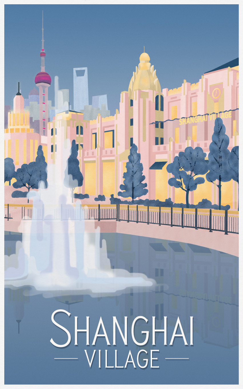 SHANGHAI TRAVEL POSTER - VALUE RETAIL - THE TRAVEL POSTERS